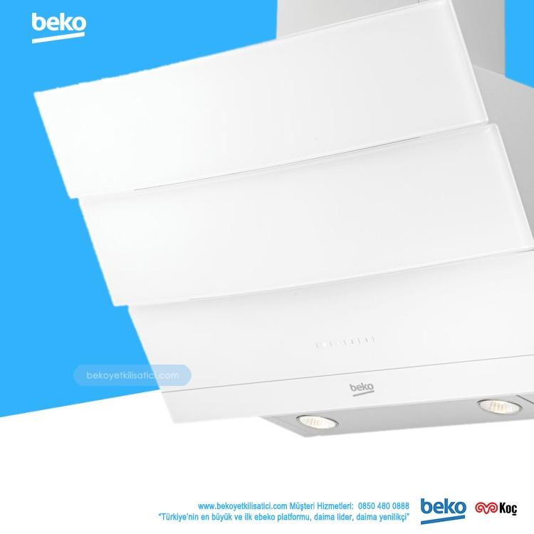 Beko Ade 62540 B Beyaz Cam Davlumbaz
